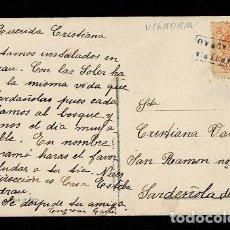 Sellos: C10-3-10 POSTAL ROMANTICA - LES CYPRINS - CIRCULADA DE VILADRAU A SARDEÑOLA DEL VALLES CON MATASELLO. Lote 244620085