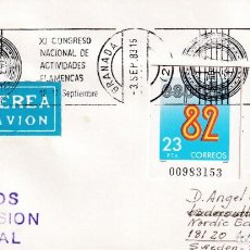 Sellos: MUY RARO FRANQUEO ENTEROS POSTALES FUTBOL RECORTADOS EN CARTA CIRCULADA 1983 GRANADA-SUECIA. LLEGADA. Lote 244658540