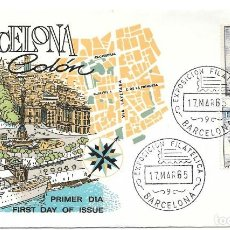 Timbres: COLON DESCUBRIMIENTO DE AMERICA NAO SANTA MARIA. BARCELONA 1965. Lote 246098295