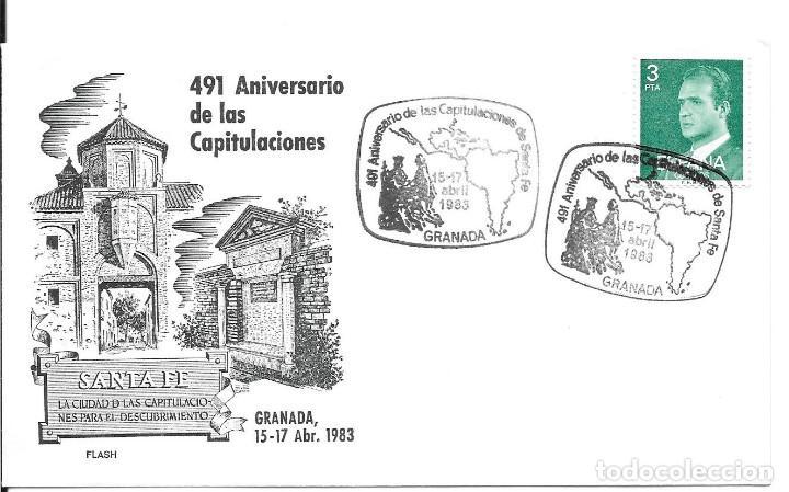 Sellos: COLON DESCUBRIMIENTO DE AMERICA. LOTE 4 CARTAS MATASELLOS CAPITULACIONES DE SANTA FE - Foto 2 - 246127770