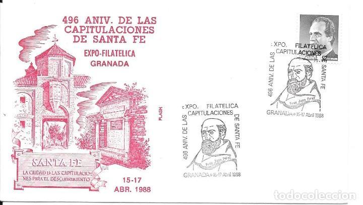 Sellos: COLON DESCUBRIMIENTO DE AMERICA. LOTE 4 CARTAS MATASELLOS CAPITULACIONES DE SANTA FE - Foto 3 - 246127770