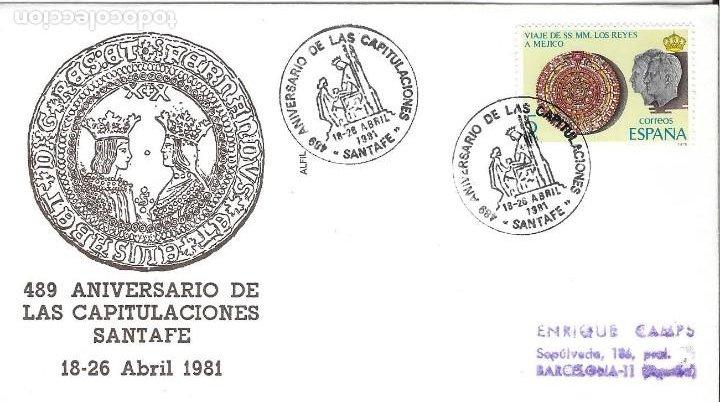 Sellos: COLON DESCUBRIMIENTO DE AMERICA. LOTE 4 CARTAS MATASELLOS CAPITULACIONES DE SANTA FE - Foto 5 - 246127770