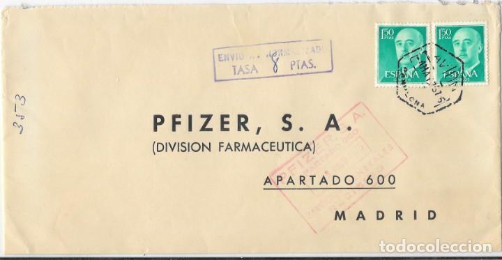 CORREO AEREO EDIFIL 1155 PAR. SOBRE DE PAMPLONA A MADRID. TASADA 8 PESETAS 1957 (Sellos - Historia Postal - Sello Español - Sobres Circulados)