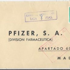 Sellos: CORREO AEREO EDIFIL 1155 PAR. SOBRE DE PAMPLONA A MADRID. TASADA 8 PESETAS 1957. Lote 246130775