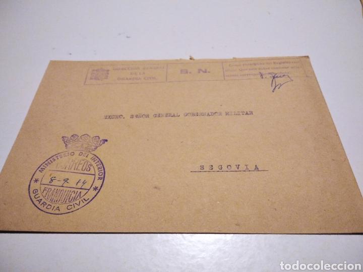 SOBRE DIRECCIÓN GENERAL DE LA GUARDIA CIVIL (Sellos - Historia Postal - Sello Español - Sobres Circulados)