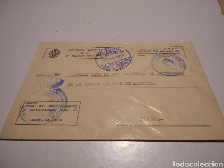 SOBRE CAPITANÍA GENERAL DE LA 3 REGION MILITAR DE LEVANTE (Sellos - Historia Postal - Sello Español - Sobres Circulados)
