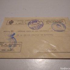 Sellos: SOBRE CAPITANÍA GENERAL DE LA 3 REGION MILITAR DE LEVANTE. Lote 246165190