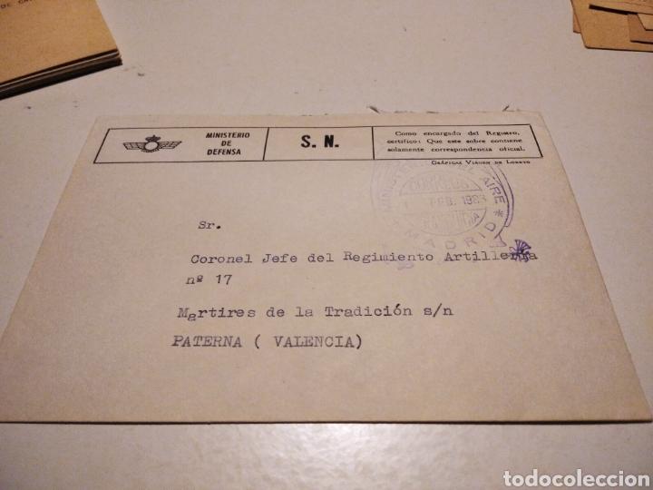 SOBRE MILITAR MINISTERIO DE DEFENSA (Sellos - Historia Postal - Sello Español - Sobres Circulados)
