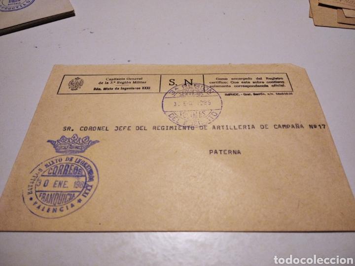 SOBRE MILITAR REGIMIENTO DE ARTILLERÍA CAMPAÑA N17 (Sellos - Historia Postal - Sello Español - Sobres Circulados)