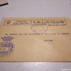 Sellos: SOBRE MILITAR REGIMIENTO DE ARTILLERÍA CAMPAÑA N17. Lote 246167005