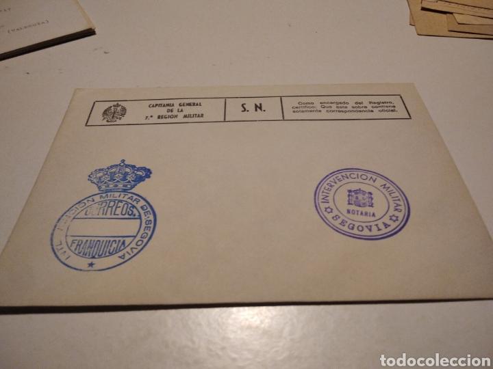 SOBRE INTERVENCIÓN MILITAR SEGOVIA (Sellos - Historia Postal - Sello Español - Sobres Circulados)