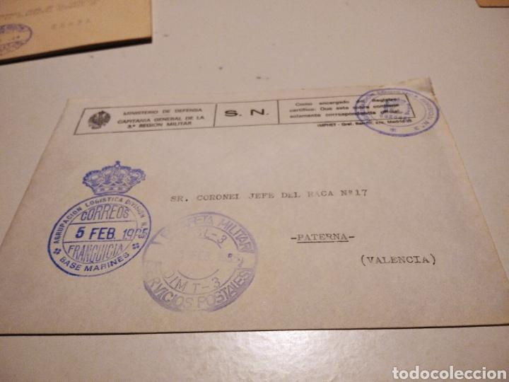 SOBRE MILITAR AGRUPACIÓN LOGÍSTICA BASE MARINES (Sellos - Historia Postal - Sello Español - Sobres Circulados)