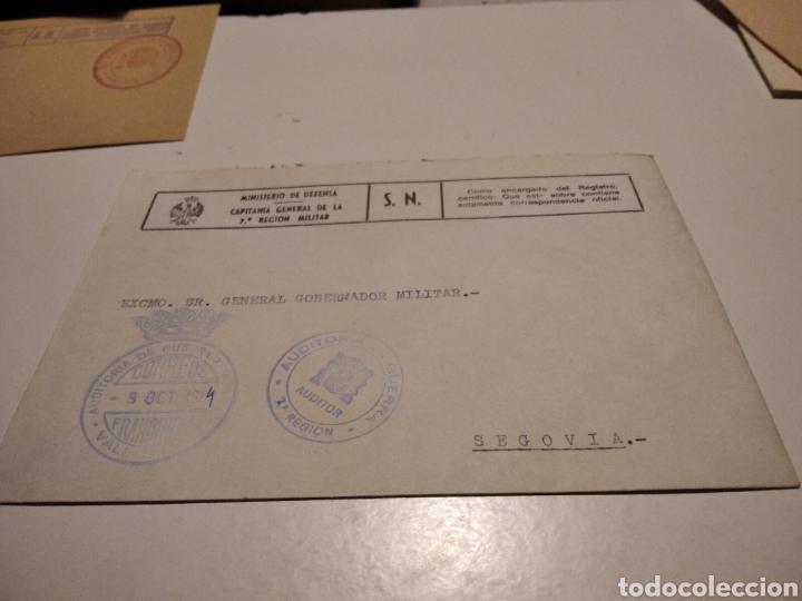 SOBRE MILITAR AUDITORÍA DE GUERRA (Sellos - Historia Postal - Sello Español - Sobres Circulados)