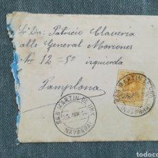Timbres: CARTA CIRCULADA CON MATASELLOS DE SAN MARTÍN DE UNX - NAVARRA - 1918. Lote 249343815