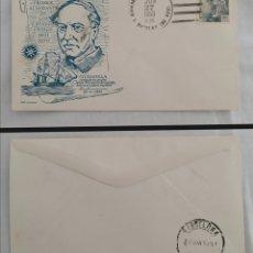 Sellos: ESPAÑA 1953 ALMIRANTE DAVID G. FARRAGUT MATASELLO DESTRUCTOR ESTADOS UNIDOS U.S.S. DENNIS J. BUCKLEY. Lote 280120178