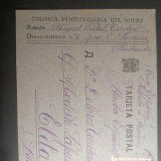 Sellos: COLONIA PRISIÓN EL DUESO SANTOÑA A ELDA ALICANTE 1941 - TARJETA POSTAL. Lote 251713770