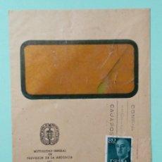 Sellos: SOBRE CIRCULADO MUTUALIDAD GENERAL DE PREVISION DE LA ABOGACIA, FRANQUEO MECANICO CIRCA 1957. Lote 253244190
