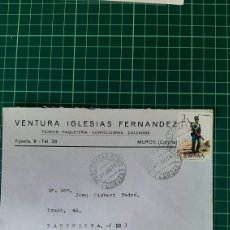 Sellos: MATASELLO MUROS LA CORUÑA 1976 VENTURA IGLESIAS MUROS DESTINO BARCELONA. Lote 254559220