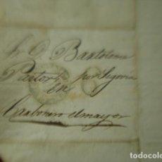 Sellos: CARTA PRE FILATELIA CARBONERO EL MAYOR SEGOVIA AÑO 1844 - ENVIO Y RESPUESTA EN UNA. Lote 254838220