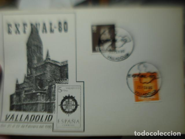EXFIVALL 80 - VALLADOLID - TARJETA (Sellos - Historia Postal - Sello Español - Sobres Circulados)