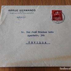 Timbres: ANTIGUO SOBRE.ARRUE HERMANOS.S.A FABRICANTES HERRAMIENTAS.OÑATE 1961. Lote 259997600