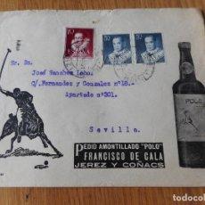 Timbres: ANTIGUO SOBRE FRANCISCO DE CALA.AMONTILLADO POLO.JEREZ DE LA FRONTERA 1951. Lote 260330715