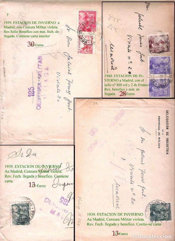 Sellos: MALAGA Y PROV.- HISTORIA POSTAL, CARTAS Y T.P. P.V, 2.885 €. VER 16 FOTOS ADICIONALES Y CONDICIONES. - Foto 5 - 31780865
