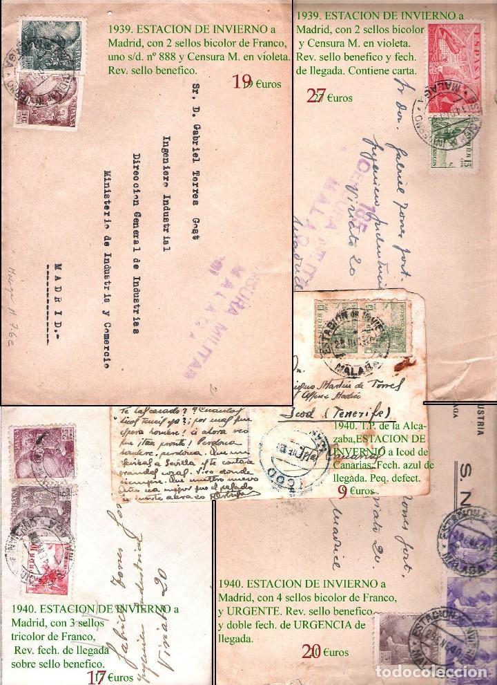 Sellos: MALAGA Y PROV.- HISTORIA POSTAL, CARTAS Y T.P. P.V, 2.885 €. VER 16 FOTOS ADICIONALES Y CONDICIONES. - Foto 6 - 31780865