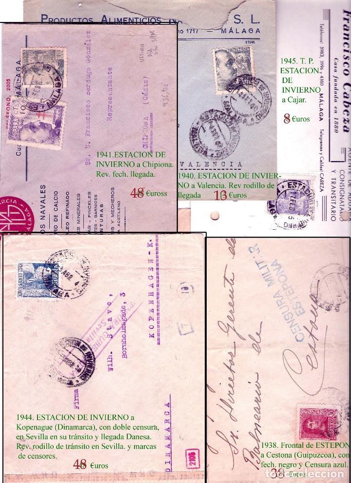 Sellos: MALAGA Y PROV.- HISTORIA POSTAL, CARTAS Y T.P. P.V, 2.885 €. VER 16 FOTOS ADICIONALES Y CONDICIONES. - Foto 7 - 31780865