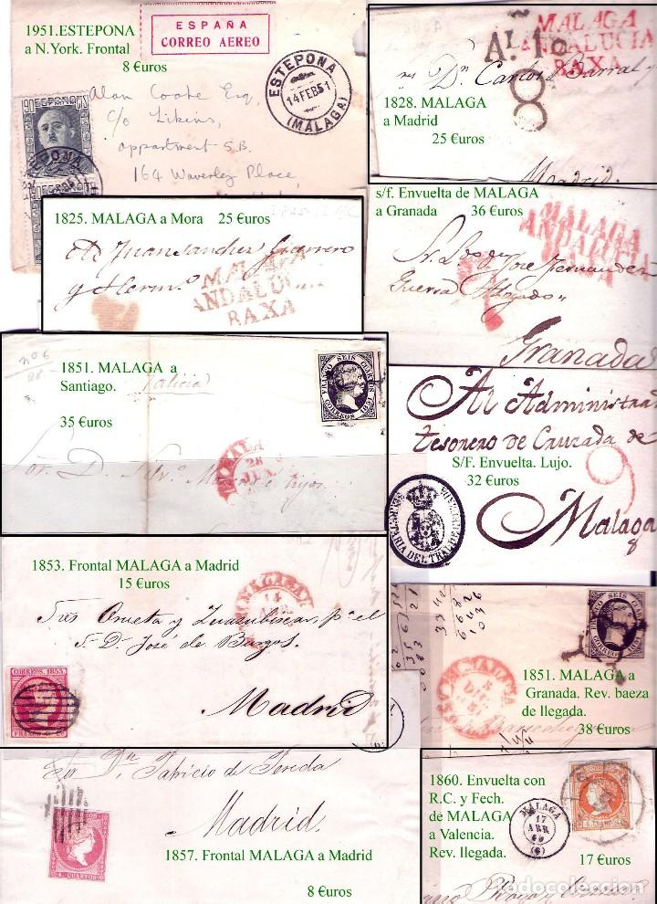 Sellos: MALAGA Y PROV.- HISTORIA POSTAL, CARTAS Y T.P. P.V, 2.885 €. VER 16 FOTOS ADICIONALES Y CONDICIONES. - Foto 8 - 31780865