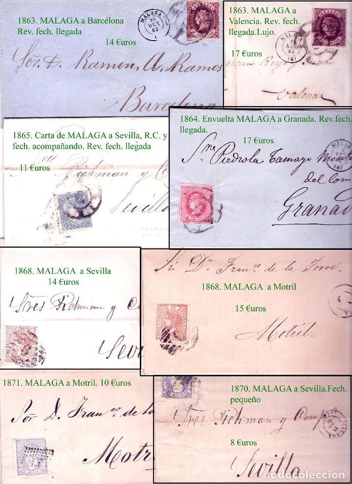 Sellos: MALAGA Y PROV.- HISTORIA POSTAL, CARTAS Y T.P. P.V, 2.885 €. VER 16 FOTOS ADICIONALES Y CONDICIONES. - Foto 9 - 31780865