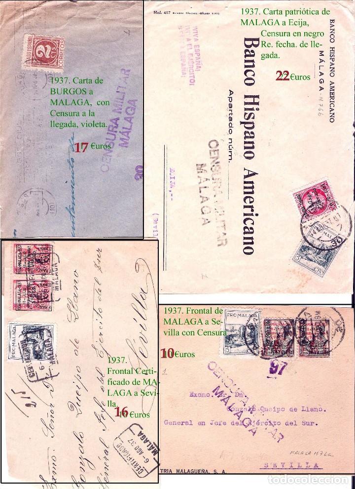 Sellos: MALAGA Y PROV.- HISTORIA POSTAL, CARTAS Y T.P. P.V, 2.885 €. VER 16 FOTOS ADICIONALES Y CONDICIONES. - Foto 12 - 31780865