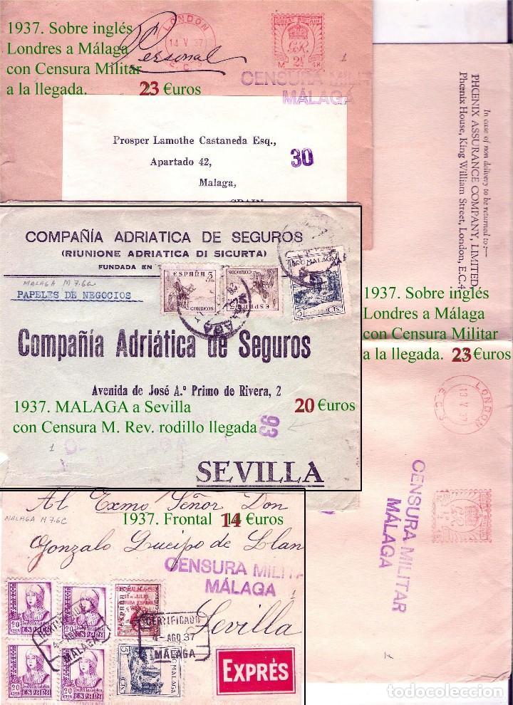 Sellos: MALAGA Y PROV.- HISTORIA POSTAL, CARTAS Y T.P. P.V, 2.885 €. VER 16 FOTOS ADICIONALES Y CONDICIONES. - Foto 14 - 31780865