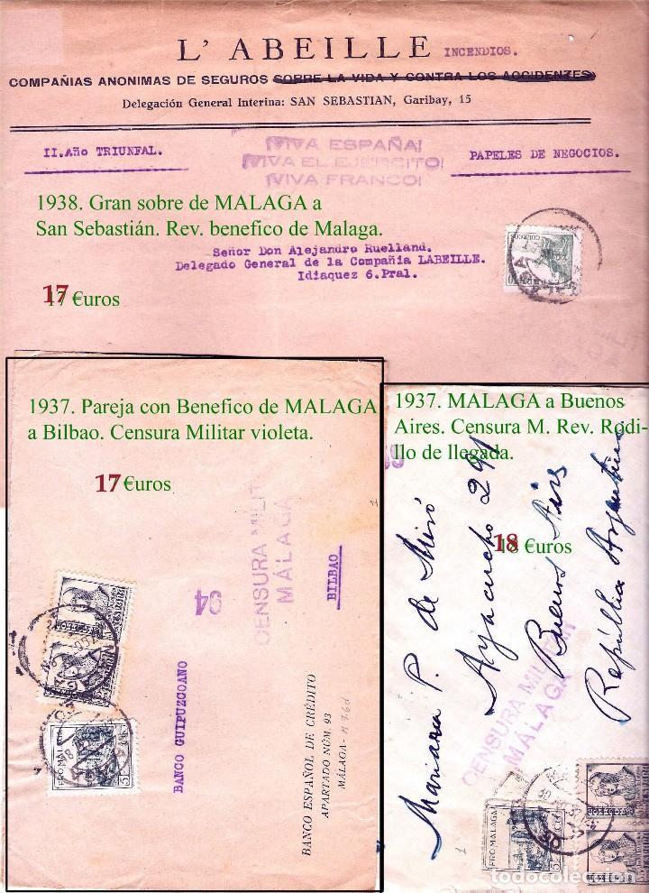 Sellos: MALAGA Y PROV.- HISTORIA POSTAL, CARTAS Y T.P. P.V, 2.885 €. VER 16 FOTOS ADICIONALES Y CONDICIONES. - Foto 15 - 31780865