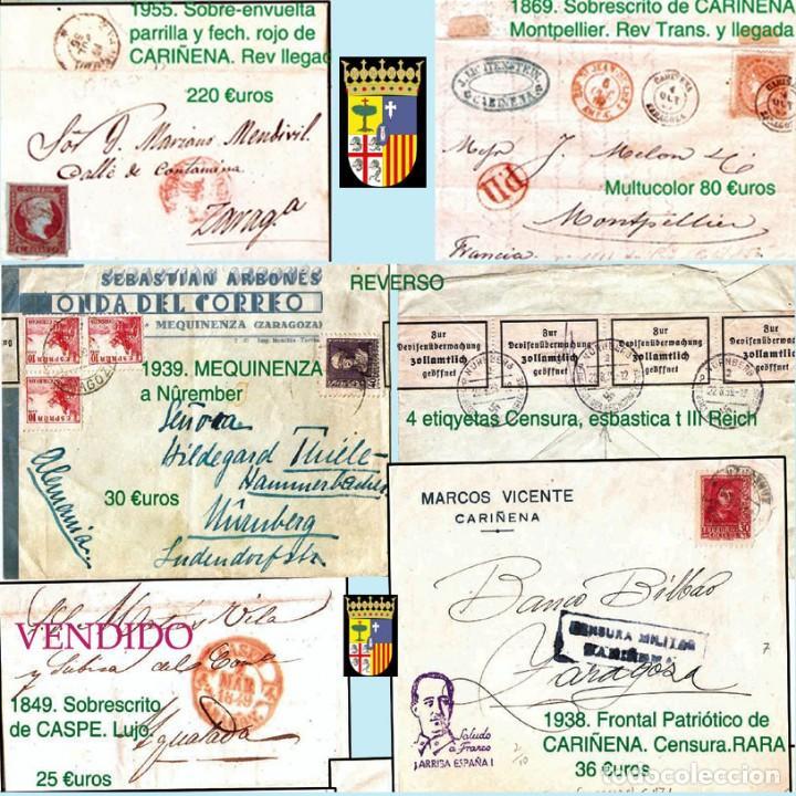 Sellos: ZARAGOZA Y PROV.- HISTORIA POSTAL 16 PLANCHAS CON 123 PIEZAS P.V.P. 3.330 €. VER CONDICIONES. - Foto 2 - 32189219
