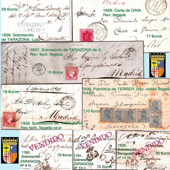 Sellos: ZARAGOZA Y PROV.- HISTORIA POSTAL 16 PLANCHAS CON 123 PIEZAS P.V.P. 3.330 €. VER CONDICIONES. - Foto 3 - 32189219
