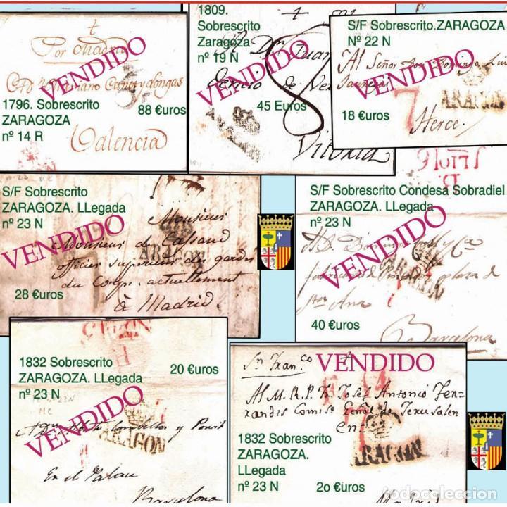 Sellos: ZARAGOZA Y PROV.- HISTORIA POSTAL 16 PLANCHAS CON 123 PIEZAS P.V.P. 3.330 €. VER CONDICIONES. - Foto 4 - 32189219