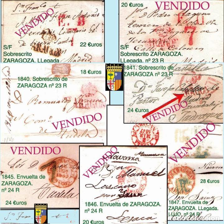 Sellos: ZARAGOZA Y PROV.- HISTORIA POSTAL 16 PLANCHAS CON 123 PIEZAS P.V.P. 3.330 €. VER CONDICIONES. - Foto 5 - 32189219
