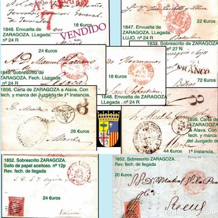 Sellos: ZARAGOZA Y PROV.- HISTORIA POSTAL 16 PLANCHAS CON 123 PIEZAS P.V.P. 3.330 €. VER CONDICIONES. - Foto 6 - 32189219