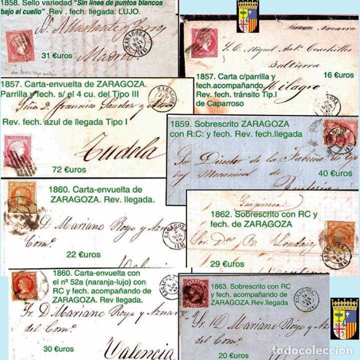 Sellos: ZARAGOZA Y PROV.- HISTORIA POSTAL 16 PLANCHAS CON 123 PIEZAS P.V.P. 3.330 €. VER CONDICIONES. - Foto 7 - 32189219