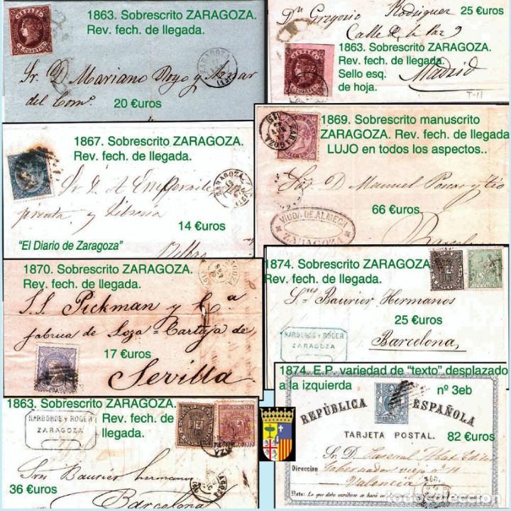 Sellos: ZARAGOZA Y PROV.- HISTORIA POSTAL 16 PLANCHAS CON 123 PIEZAS P.V.P. 3.330 €. VER CONDICIONES. - Foto 8 - 32189219