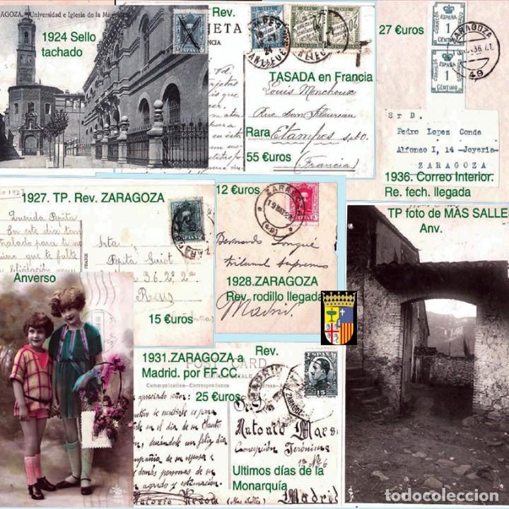 Sellos: ZARAGOZA Y PROV.- HISTORIA POSTAL 16 PLANCHAS CON 123 PIEZAS P.V.P. 3.330 €. VER CONDICIONES. - Foto 10 - 32189219