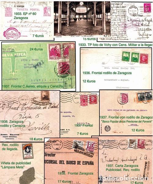 Sellos: ZARAGOZA Y PROV.- HISTORIA POSTAL 16 PLANCHAS CON 123 PIEZAS P.V.P. 3.330 €. VER CONDICIONES. - Foto 11 - 32189219