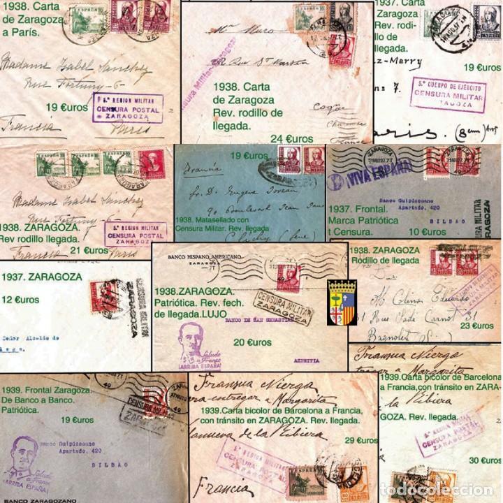 Sellos: ZARAGOZA Y PROV.- HISTORIA POSTAL 16 PLANCHAS CON 123 PIEZAS P.V.P. 3.330 €. VER CONDICIONES. - Foto 12 - 32189219