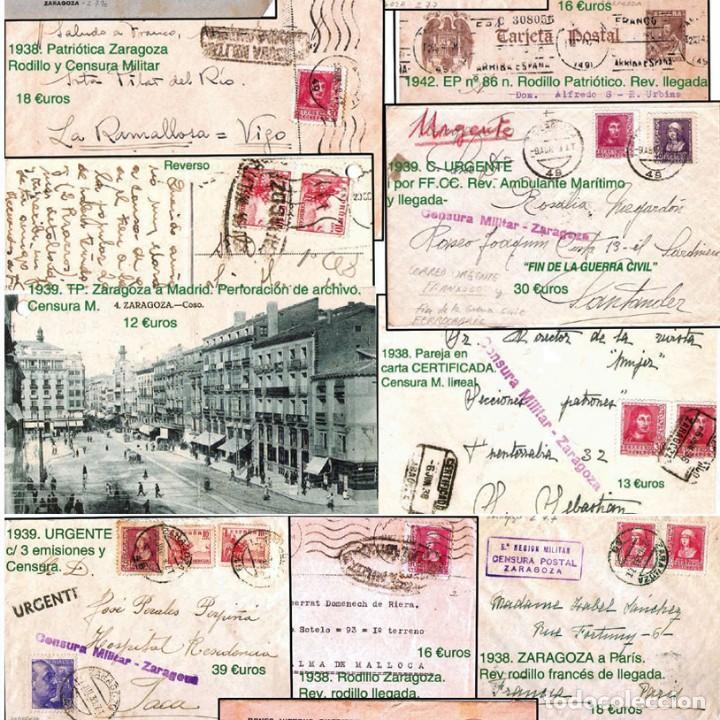 Sellos: ZARAGOZA Y PROV.- HISTORIA POSTAL 16 PLANCHAS CON 123 PIEZAS P.V.P. 3.330 €. VER CONDICIONES. - Foto 13 - 32189219
