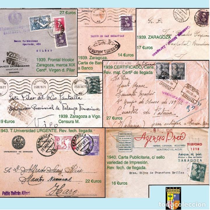 Sellos: ZARAGOZA Y PROV.- HISTORIA POSTAL 16 PLANCHAS CON 123 PIEZAS P.V.P. 3.330 €. VER CONDICIONES. - Foto 14 - 32189219