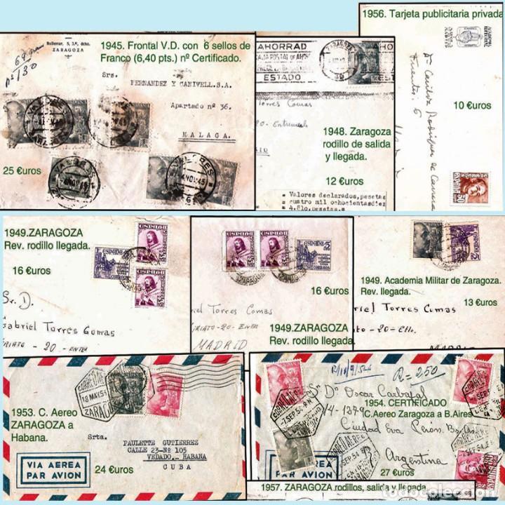 Sellos: ZARAGOZA Y PROV.- HISTORIA POSTAL 16 PLANCHAS CON 123 PIEZAS P.V.P. 3.330 €. VER CONDICIONES. - Foto 15 - 32189219