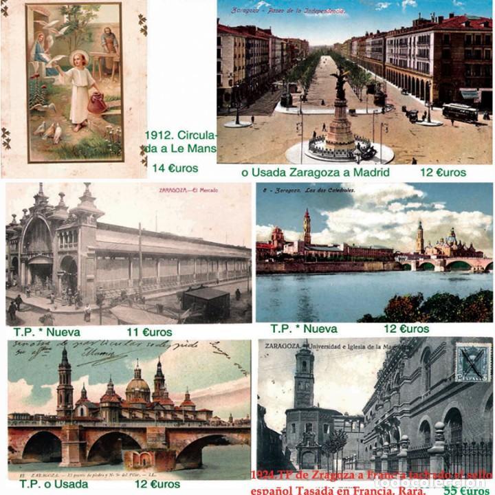 Sellos: ZARAGOZA Y PROV.- HISTORIA POSTAL 16 PLANCHAS CON 123 PIEZAS P.V.P. 3.330 €. VER CONDICIONES. - Foto 18 - 32189219