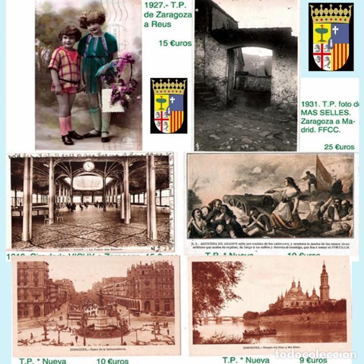 Sellos: ZARAGOZA Y PROV.- HISTORIA POSTAL 16 PLANCHAS CON 123 PIEZAS P.V.P. 3.330 €. VER CONDICIONES. - Foto 19 - 32189219