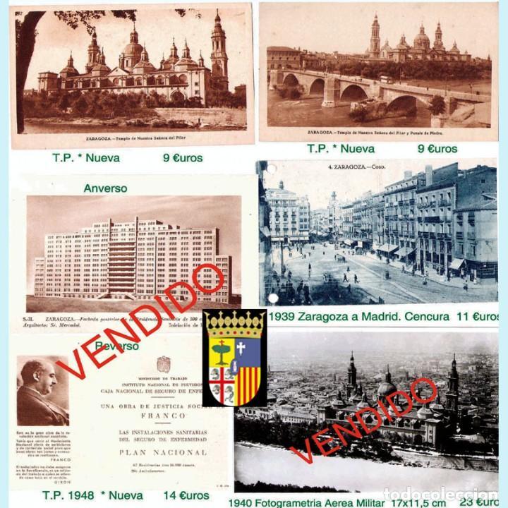 Sellos: ZARAGOZA Y PROV.- HISTORIA POSTAL 16 PLANCHAS CON 123 PIEZAS P.V.P. 3.330 €. VER CONDICIONES. - Foto 20 - 32189219